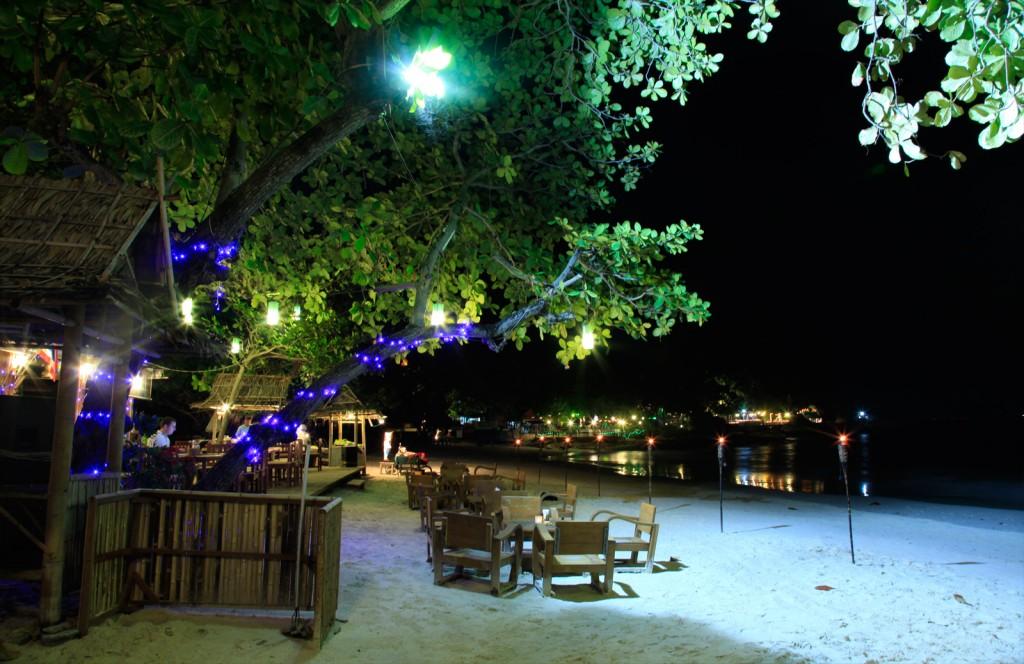 Samed Cabana Resort Beach Restaurant Lights